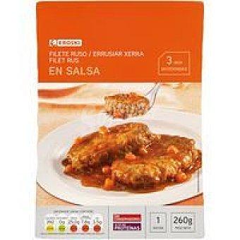 Eroski Filete ruso en salsa de champiñones Bandeja 260 g