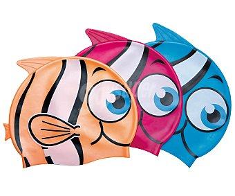 BESTWAY Gorro de natación de silicona, con diseño de divertidos peces 1 unidad