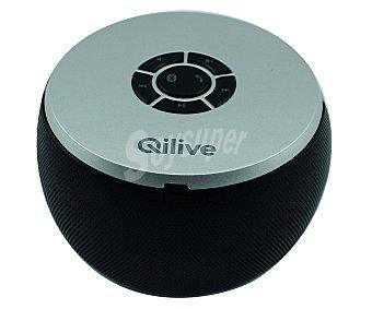 QLIVE Q.1379 Mini altavoz por batería Conector de 3,5(mm), Bluetooth y 6 Watios de potencia de sonido
