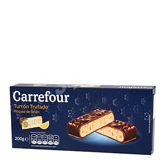 Carrefour Turrón trufado de mousse de limón 200 g
