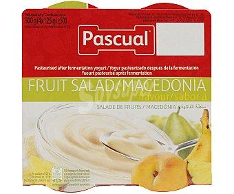 Pascual Yogur de macedonia Pack 4 vasos x 125 g - 500 g