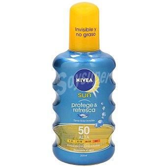 Nivea Sun protector solar invisible protege&refresca spf 50 spray 200 ml