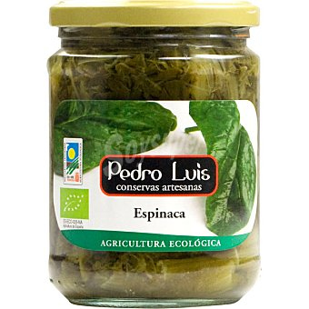 Pedro Luis Espinacas ecológicas Frasco 260 g neto escurrido