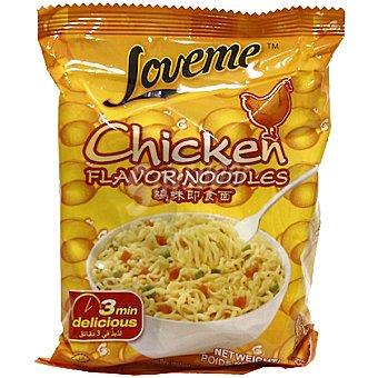 Loveme fideos instantáneos sabor pollo sobre 65 g