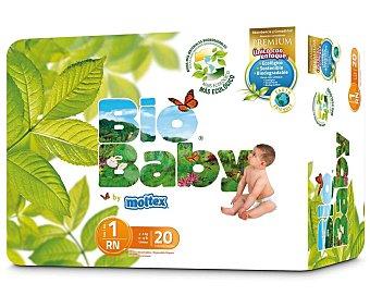 Moltex Pañal eco recién nacido talla 1 de 3 a 6 kg  Paquete 20 u
