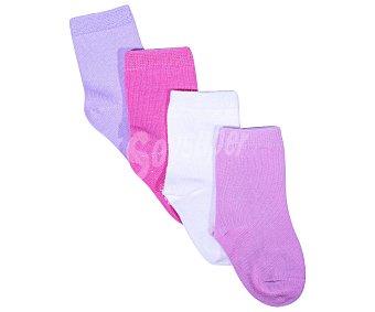 In Extenso Lote de 4 pares de calcetines de bebe color surtido, talla 21/23