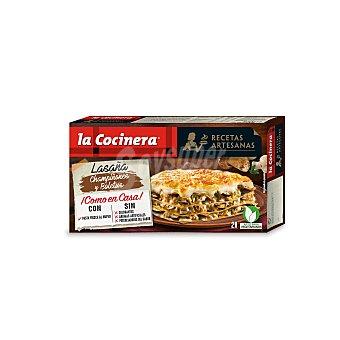 La Cocinera Lasaña de champiñones y boletus caja 500 gr Caja 500 gr