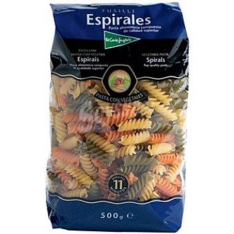 El Corte Inglés Espirales con vegetales Paquete 500 g
