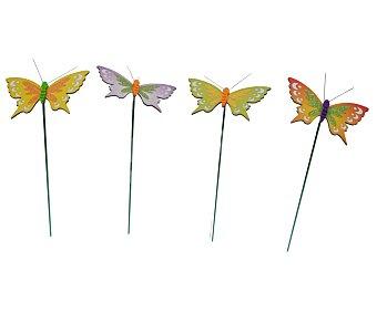 GARDEN STAR Pincho decorativo de jardín con formas de mariposa de 10x7.3x20 centímetros 1 unidad