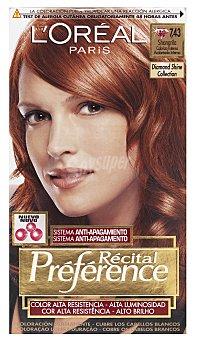 L'Oréal Paris Coloración Permanente 7.43 Shangrila de Préférence 1 ud