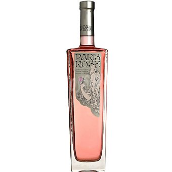 PARIS ROSE licor de vodka con fresas salvajes  botella 70 cl