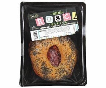 DeORO Mini rosca Ibérica (sobrasada, chorizo y salchichón Ibérico) 130 Gramos