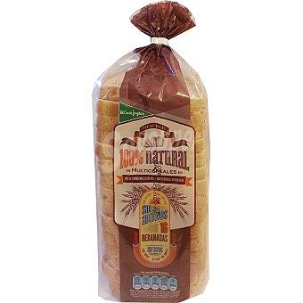EL CORTE INGLES pan de molde multicereales 100% natural con corteza 16 rebanadas  bolsa 460 g