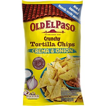 Old El Paso Tortilla chips crema & onion Bolsa 185 g