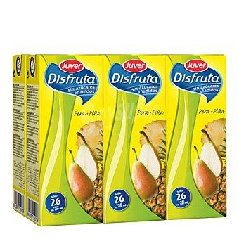 Juver-Disfruta Néctar sin azúcar pera piña Pack de 6x200 ml
