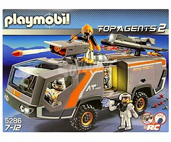 PLAYMOBIL Camión Espía Radiocontrol Top Agents 2, Modelo: 5286 1 Unidad