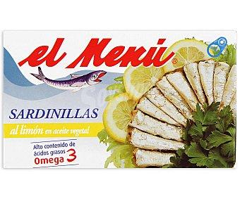 El Menu Sardinillas en Aceite Vegetal al Limón Lata 65 Gramos Peso Escurrido
