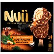Bombón helado con caramelo y nueces de macadamia Australianas 3 ud Nuii
