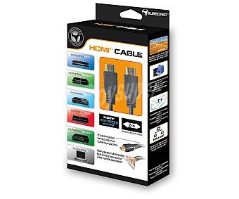 SUBSONIC Cable Hdmi de Alta Velocidad multicompatible, con Ethernet, 4K, 3D y adaptador externo en ángulo de 90º 1 unidad