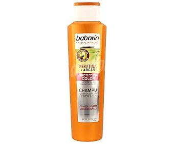Babaria Champú protector del color con keratina y argán especial para cabello teñido 300 mililitros