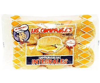 Los Compadres Pan para hamburguesas integral 6 Unidades