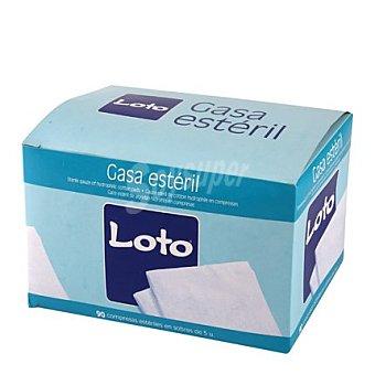 Loto Apósito gasa algodón 20 x 20 cms Caja de 90 unidades