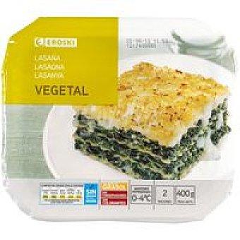 Eroski Lasaña vegetal Bandeja 400 g