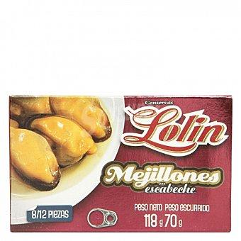 Conservas Lolin Mejillones en escabeche 70 G 70 g