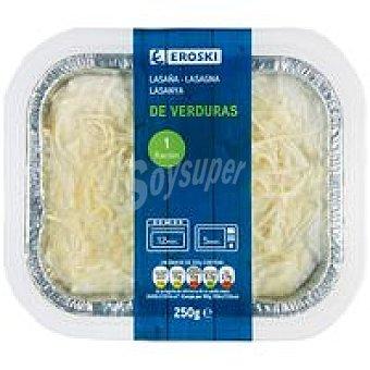 Eroski Lasaña de verduras 250 g