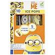 Helado flash de sabores Ice Pops 10 ud Minions