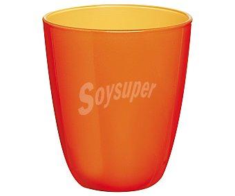 Luminarc Vaso de cristal con 25 cl de capacidad, diseño liso bicolor cítrico-naranja con acabado mate modelo Spring Break 1 unidad