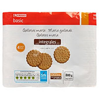 Eroski Basic Galleta integral Pack 4x200 g