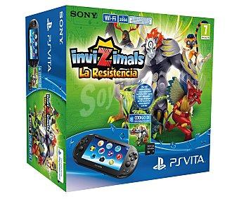 SONY Cónsola Playstatión Vita con Tarjeta de Memoria de 8Gb + Juego Invizimals la Resistencia 1 Unidad