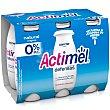 Yogur líquido Lcasei, 0% materia grasa y sabor natural Pack 6 unidades x 100 g Actimel Danone