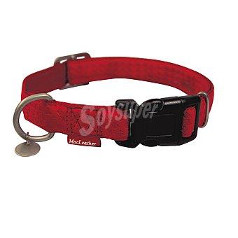 Nayeco Colección Macleather collar para perro color rojo medidas 20-33 cm x 1 cm 1 unidad