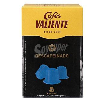 Cafés Valiente Café descafeinado compatibles con máquinas Nespresso Estuche 10 cápsulas