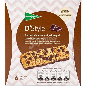ALIADA Barritas de arroz y trigo integral con chocolate paquete 126 g