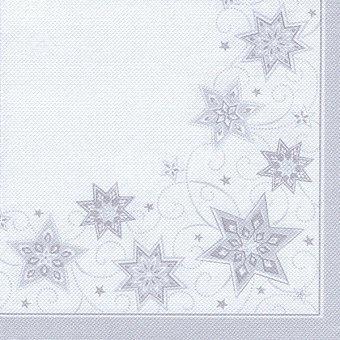 Papstar Servilletas Just Stars color blancas 40x40 cm Paquete 20 unidades