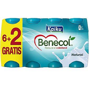 Kaiku Benecol yogur líquido natural + 2 unidades gratis + 2 unidades pack 6 unidades 65 ml