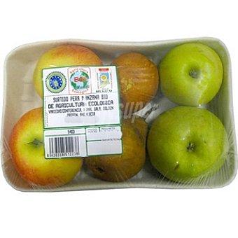 Surtido frutas ecológicas 4 manzanas + 2 peras Bandeja 900 g
