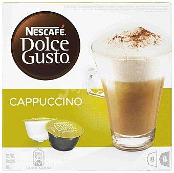 Dolce Gusto Nescafé Café Cappuccino  16 cápsulas (8 Cápsulas de Café + 8 Cápsulas de Leche)