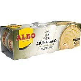 Albo Atún claro en aceite de oliva virgen Pack 6 x 65 g