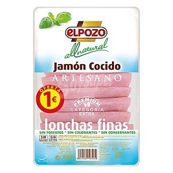ELPOZO All Natural jamón cocido extra en lonchas finas sin gluten sin lactosa envase 90 g