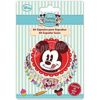 DISNEY Family Bakery cápsulas de papel Mickey para cupcakes set  60 ud
