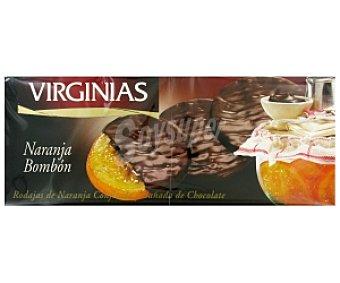 Virginias Naranjas confitadas bañadas en chocolate 150 gramos
