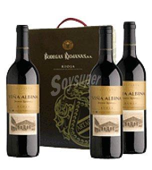Viña Albina Estuche vino tinto reserva D.O. Rioja Pack de 3x75 cl