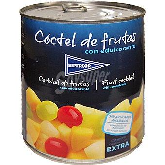 Hipercor Cóctel de frutas sin azúcar Lata 480 g neto escurrido