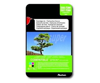 Auchan Pack Colores TO895 (E65/66/67/68) - Compatible con impresoras: epson Stylus D78 / D92 / D120 / DX4000 / DX4050 / DX4400 / DX4450 / DX5000 / DX5050 / DX6000 / DX6050 / DX7000F / DX7400 / DX7450 / DX8400 / DX8450 / DX9400F / S20 / S21 / SX100 / SX105 / SX100 / SX105 / SX110 / SX115 / SX218 / SX200