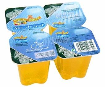Yelli Fruit Gelatina sabor frutas mediterráneas sin azúcar Pack de 4 unidades de 100 gramos