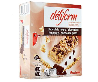 Auchan Barritas de Cereales Con Chocolate Deliform 138g